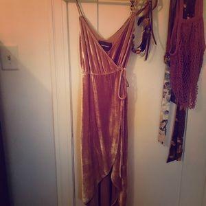 Reformation Velvet Wrap Dress